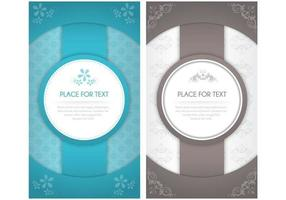 Modern Blom Invitation Vector Pack