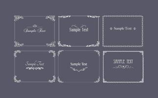Vintage Frame Vector and Ornament Vector Pack