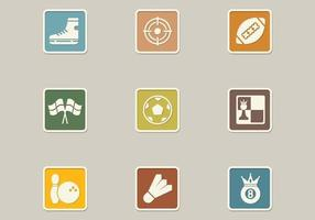 Retro Sports Icon Vector Pack