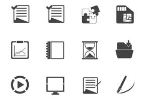 Charcoal-business-icon-vector-pack