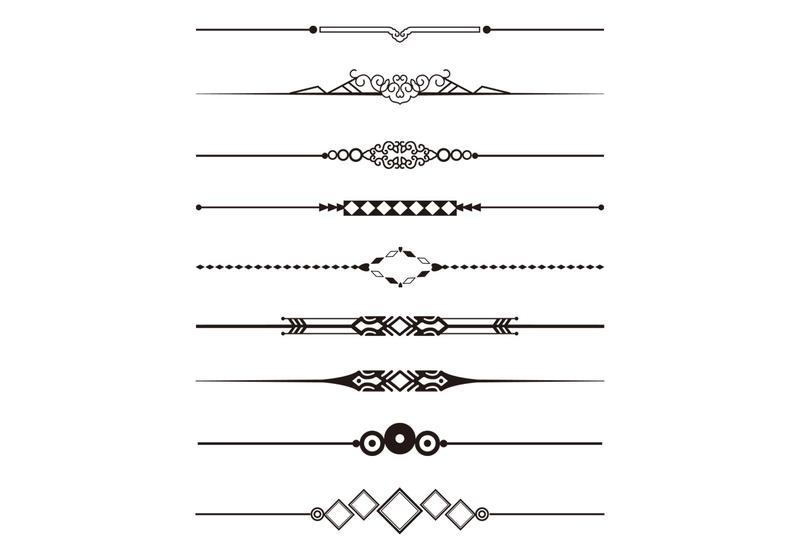 Decorative Divider Vector Pack - Download Free Vector Art, Stock ...