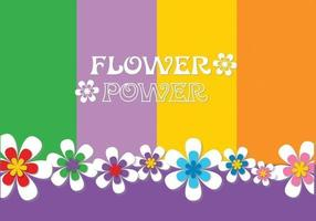 Flower Power Background Vector