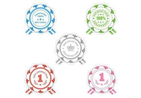 Moderne rosette award vector pack