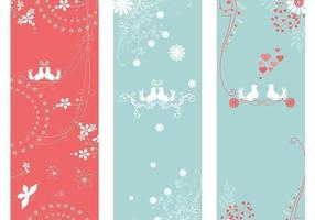 Love-bird-banner-vector-pack