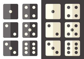 Flat-dice-icon-vector-pack