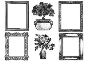 Etched-antique-picture-frame-vector-pack
