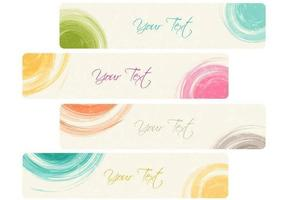 Dry-brushed-banner-vector-pack