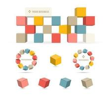 Pack vectoriel 3D Business Block