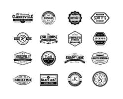 Ensemble vectoriel de badge d'affaires