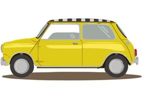 Mini Taxi Car Vector