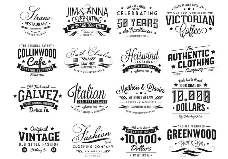 Vintage Logo Vector Pack - Download Free Vector Art, Stock ...