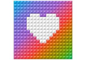 Bright Rainbow Heart Vector Background