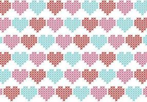Cross Stitch Heart Vector Pattern