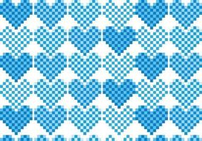 Pixel Heart Pattern Vector Pack