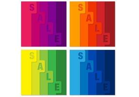 Bright Tabbed Sale Vector Backgrounds