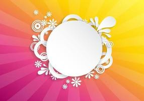 Bright Floral Sunburst Vector Background
