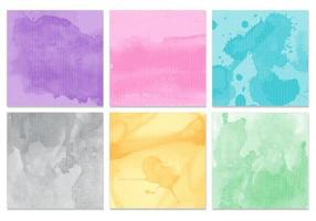 Aquarel textuur Vector Pack