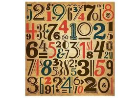 Vintage-number-vector-background