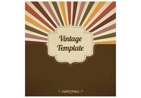 Fundo Vintage Vector Sunburst
