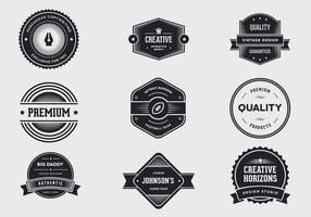 vintage label vector pack