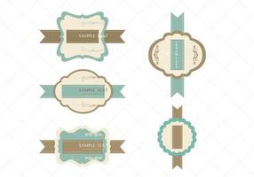 Vintage lint Label Vector Pack