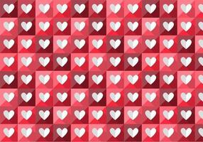 Folded Heart Vector Pattern