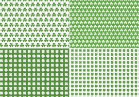 Seamless Clover Vector Pattern Pack