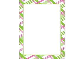 Pink-green-plaid-frame-vector