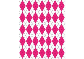 Pink, Black & White Argyle Pattern Vector
