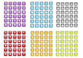 Random gratis coloridos iconos vectoriales