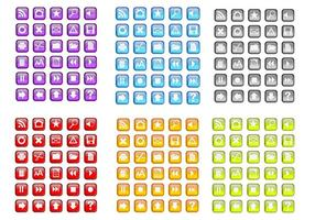 Zufällige Freie Bunte Vektor-Icons