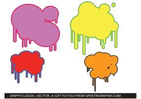 Drippy Paint Cloud Vectors