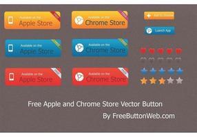 Botón de vector de Apple y Chrome Store gratis