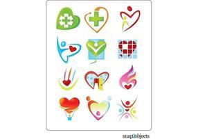 Vector libre corazón en forma de logotipo plantilla