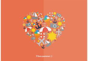 I-love-summer-vector