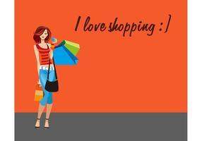 Shopping-woman-vector