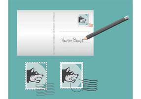 Vector-postcard-template