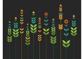 Vector-simple-flowers-background