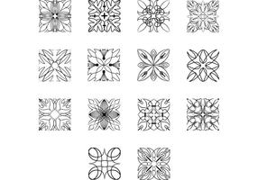Square-ornaments-vector-pack