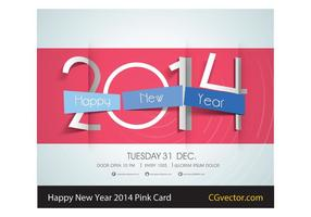 Free-vector-pink-happy-new-year-2014-card