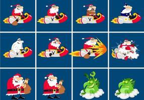 Santa-vector-cartoon-pack