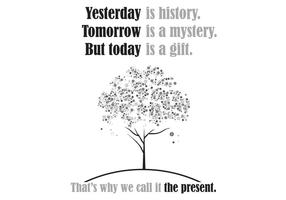 Yesterday is history... Poster Vector
