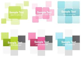 Abstract Squares Background Vectors