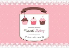 Cupcake Scrapbook Card Vector
