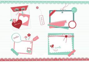 Girly Scrapbook Elements Vector