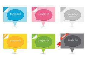 Speech Bubbles Cutout vektorer