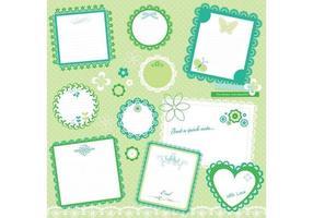 Paquete lindo del vector del libro de recuerdos