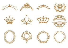 Vector Vector de couronne et Wreath Vector Pack
