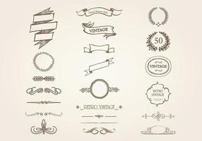 Hand Drawn Ornament Vector Pack Vintage