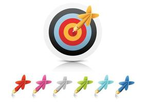 Darts-and-target-vector-two
